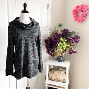 Maternity Great Expectations Cowl Neck Sweater Top